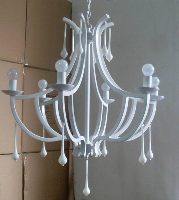 white painted chandelierswith glass drops/large candle chandeliers/ white chandeliers