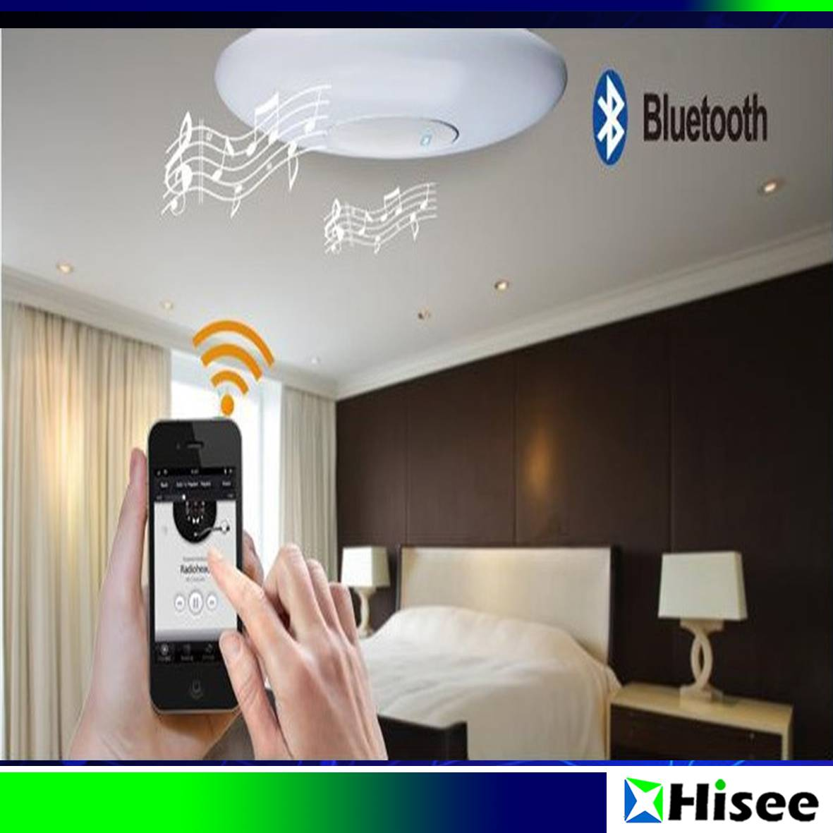 Intelligent Multifunction IR Remote Control Adjustable Lighting LED Ceiling Light with Bluetooth Spe
