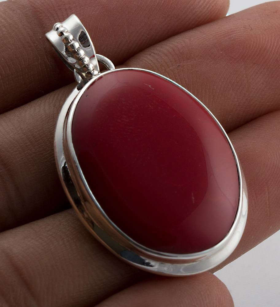 92.5 sterling silver Coral pendent