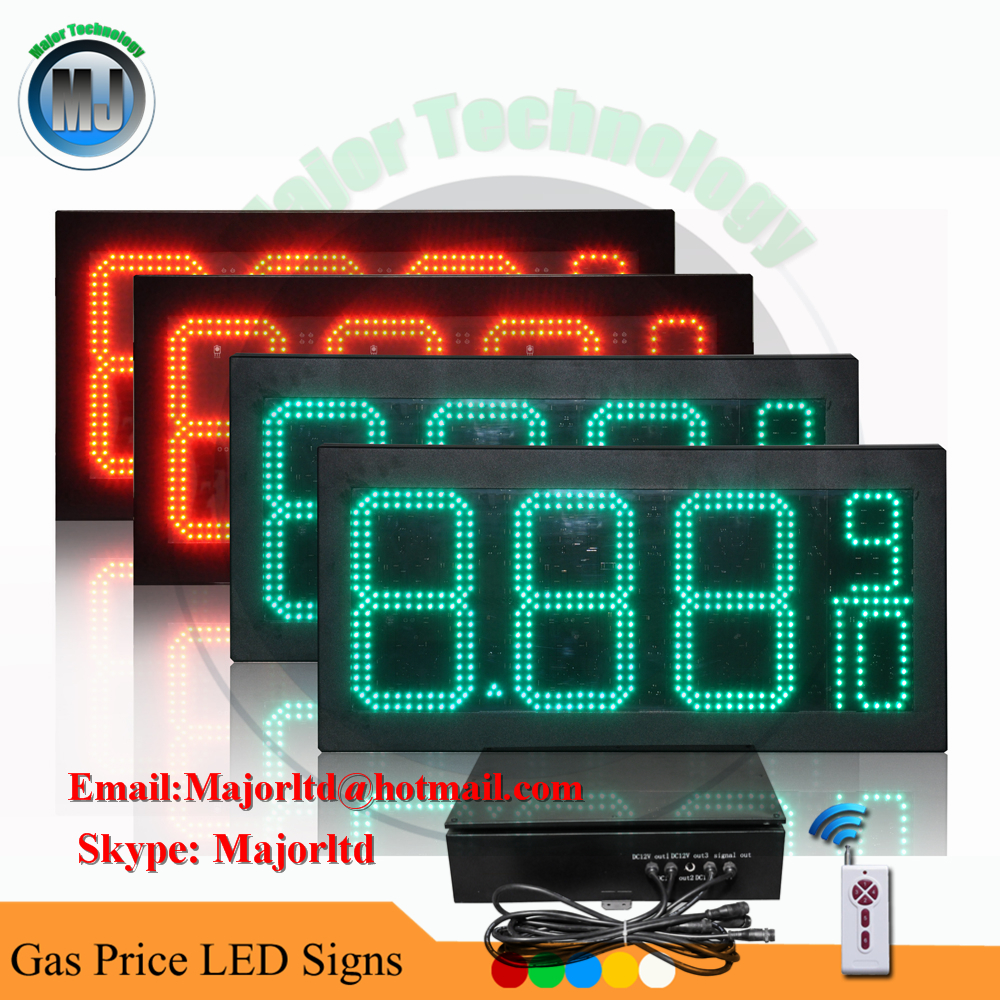 Outdoor Programmable Red 10inch LED Gas Price Sign for Gas Station