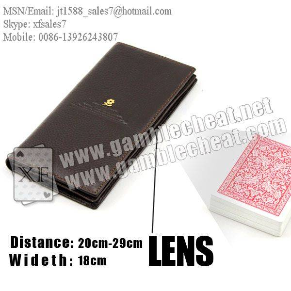 XF Wallet lens/poker analyzer/poker cheat/contact lens/infrared lens/poker scanner/marked cards