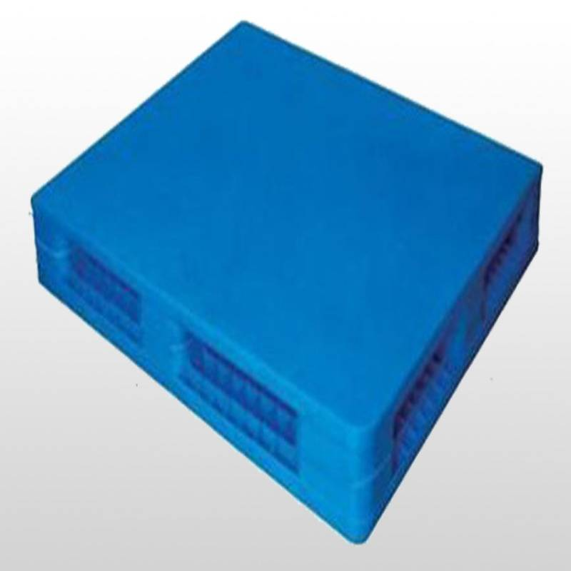 plastic pallet with double-faced.closed deck.stackable.1100*1100*150