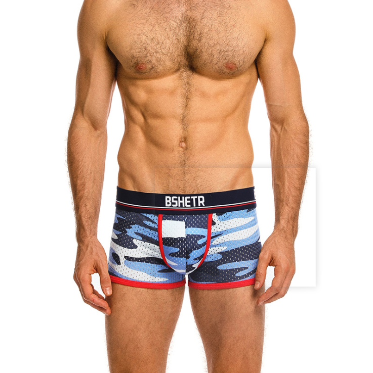 OEM cotton mens sexy underwear boxer swim trunks