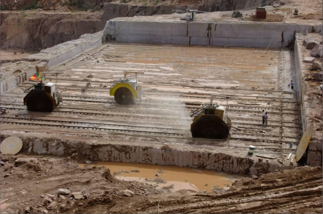 Double Blade Mining Machine , granite mining machine, marble mining machin