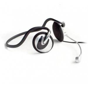 Computer headphone with built-in microphone