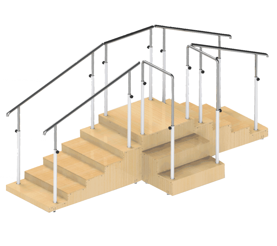 G-FTI-08 Rehabilitation Staircases with 2 Handrails