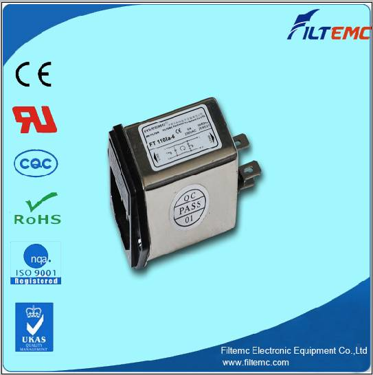 IEC Socket filters with one/two fuse/EMI filter