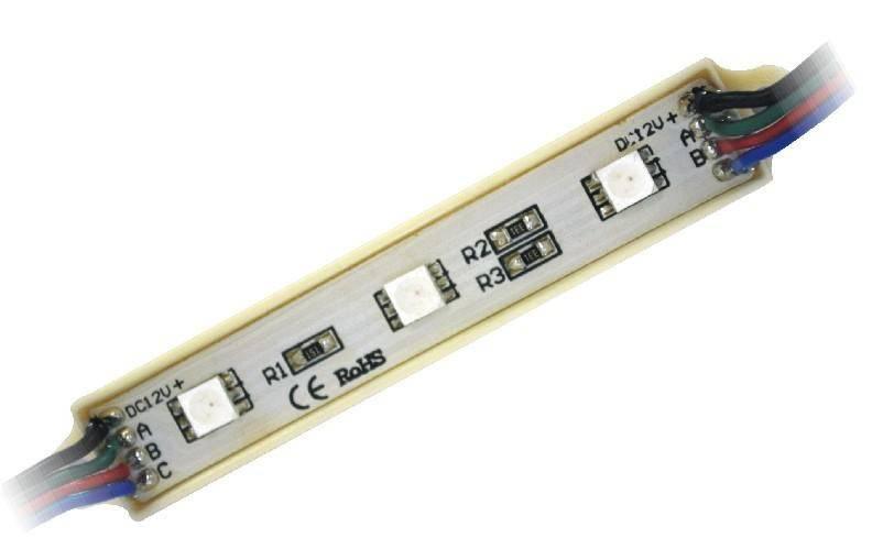 SMD 5050 RGB PVC Led Module 3Leds Waterproof Protection
