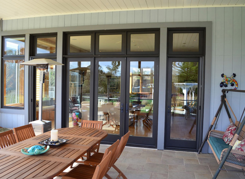 thermal aluminium hinged door with double glazed for house