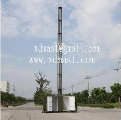 15m telescoping antenna masts tower and mobile telecom antenna tower mast in shelter