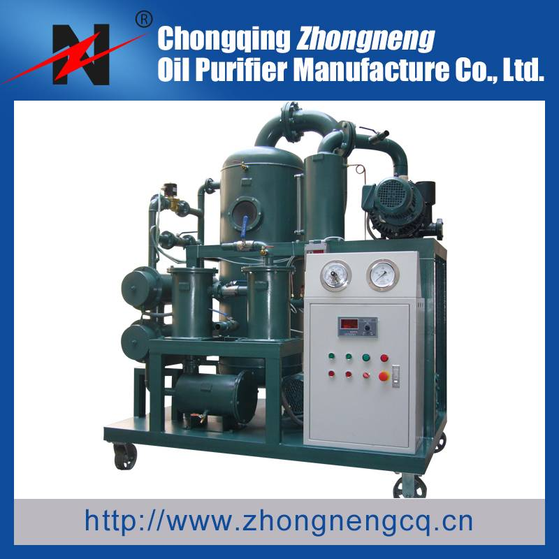 Multi Stage Vacuum Mobile Type Dielectric Oil Dehydration / Filtration Machine
