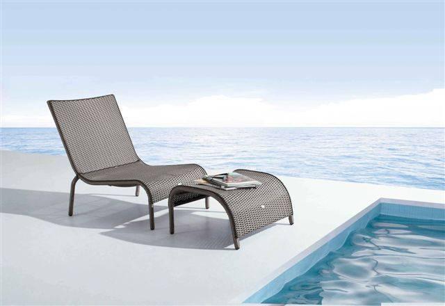 Hotel furniture rattan/wicker loungers ( L647 &L647-FT)