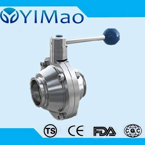 ss304 316 Stainless Steel Clamped straight Ball Valve