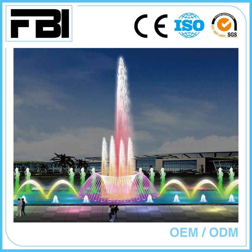 music dancing fountain with led lights, Fuente, park fountain