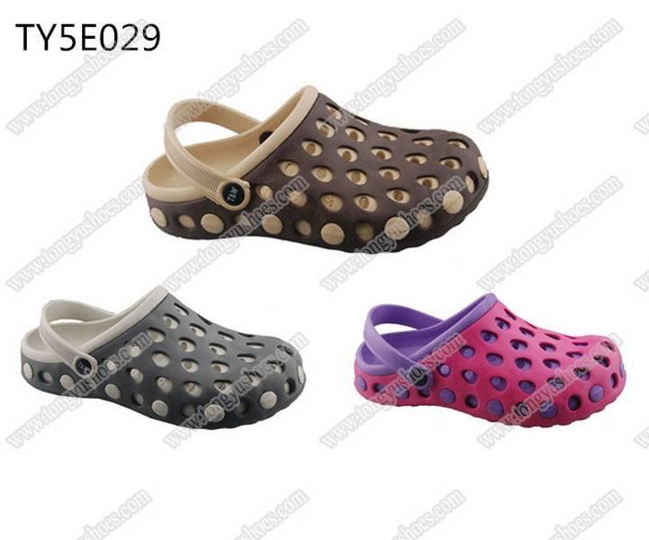 stylish vamp holes design women fashion mule eva sandal clogs