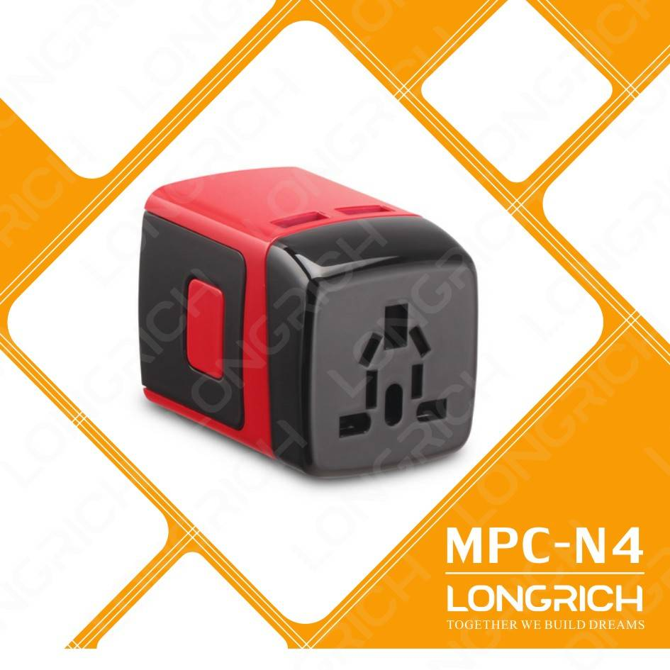2014 LONGRICH popular travel plug and socket for traveling(MPC-N4)