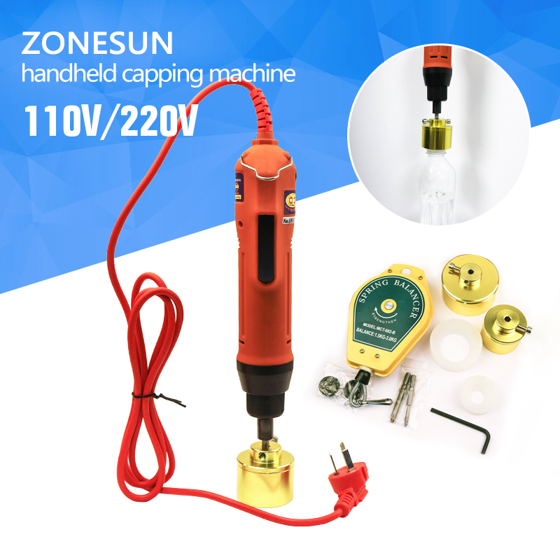 ZONESUN 100% Warranty SG-1550 Portable automatic electric bottle capping machine