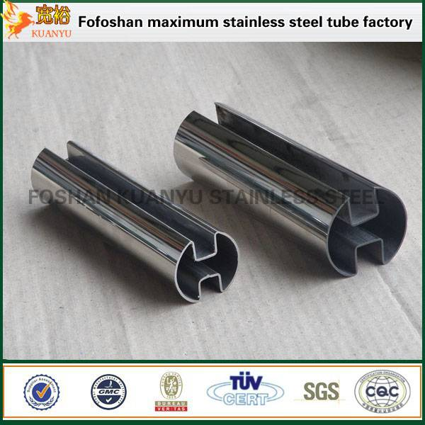 China astm a312 316 hollow stainless steel double slot pipe factory