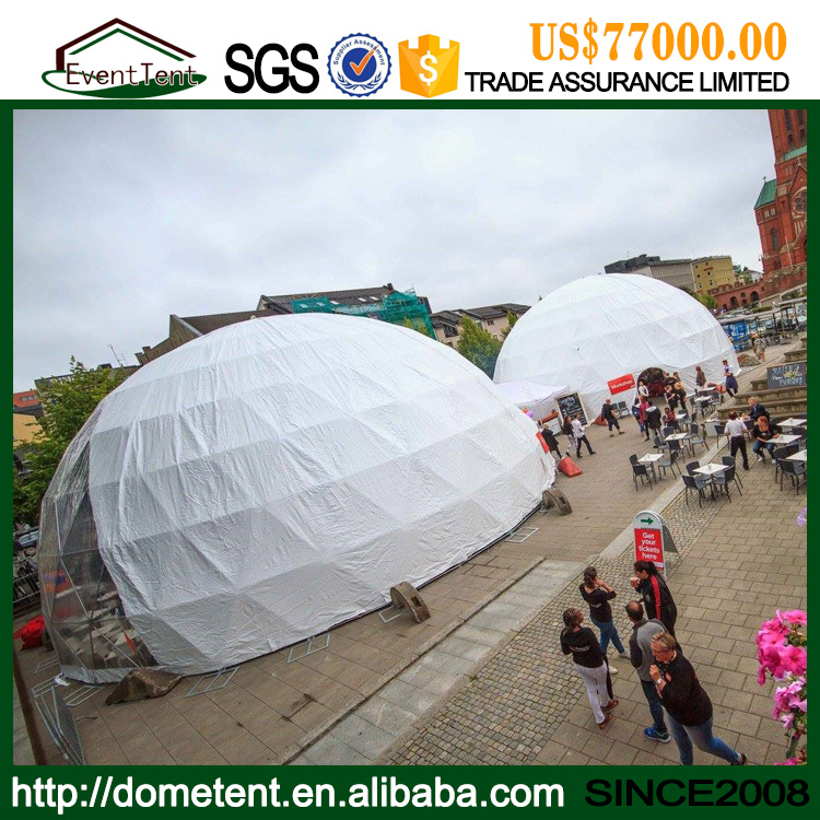 20m Diameters Round Geodesic Dome Tent With Clear PVC Fabric