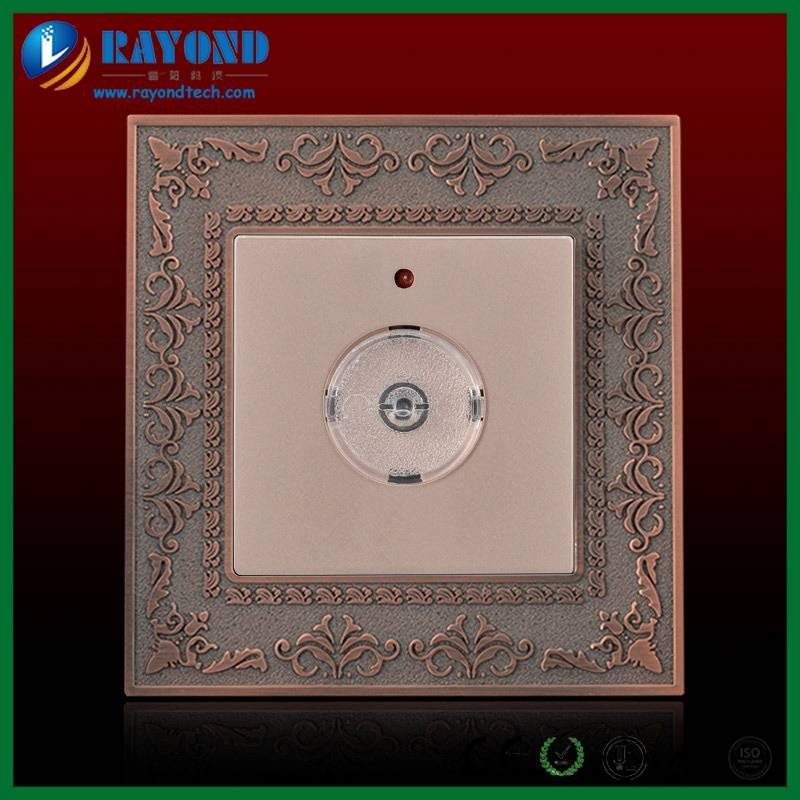 Antique Bronze Zinc Alloy Embossed Wall Panel Sound Sensor Light Switch