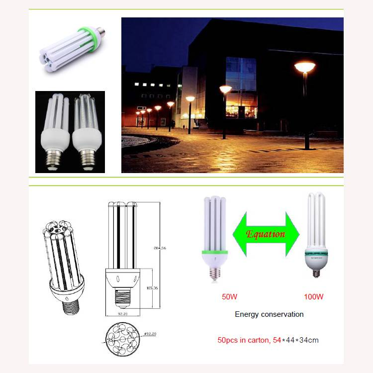 LED bulb 5U shape , 50w