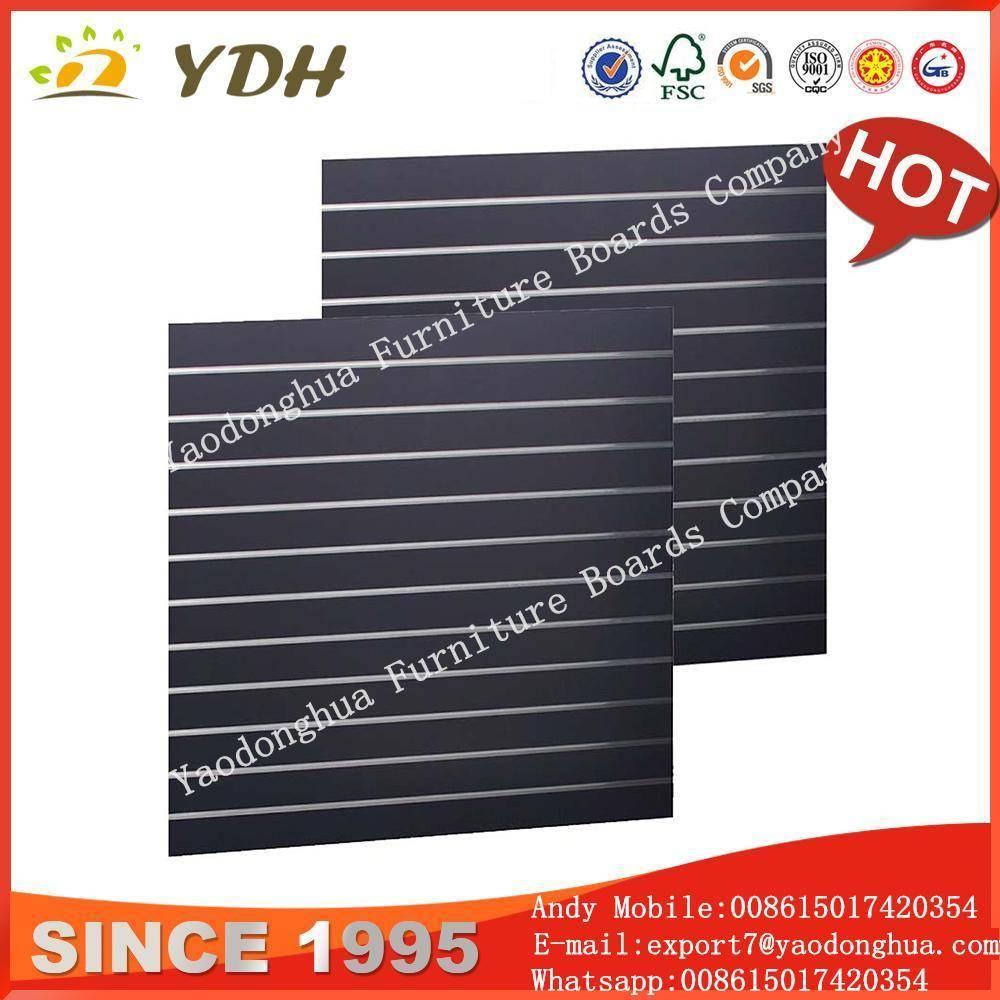 Wholesale slatwall panels,18mm display stand material, slatwall shoe shelf