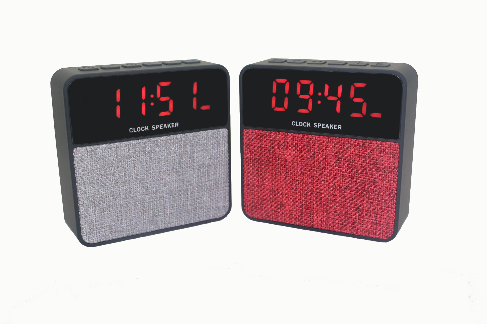 Firstsing Bluetooth 4.2 Speaker Micro TF USB FM Radio Portable Music Speakers With Clock Function