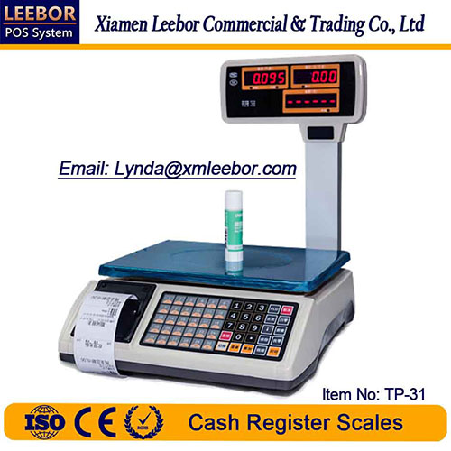 Electronic Cash Register Pricing Scale, Supermarket Receipt/ Bill Printing Price Computing Weighing