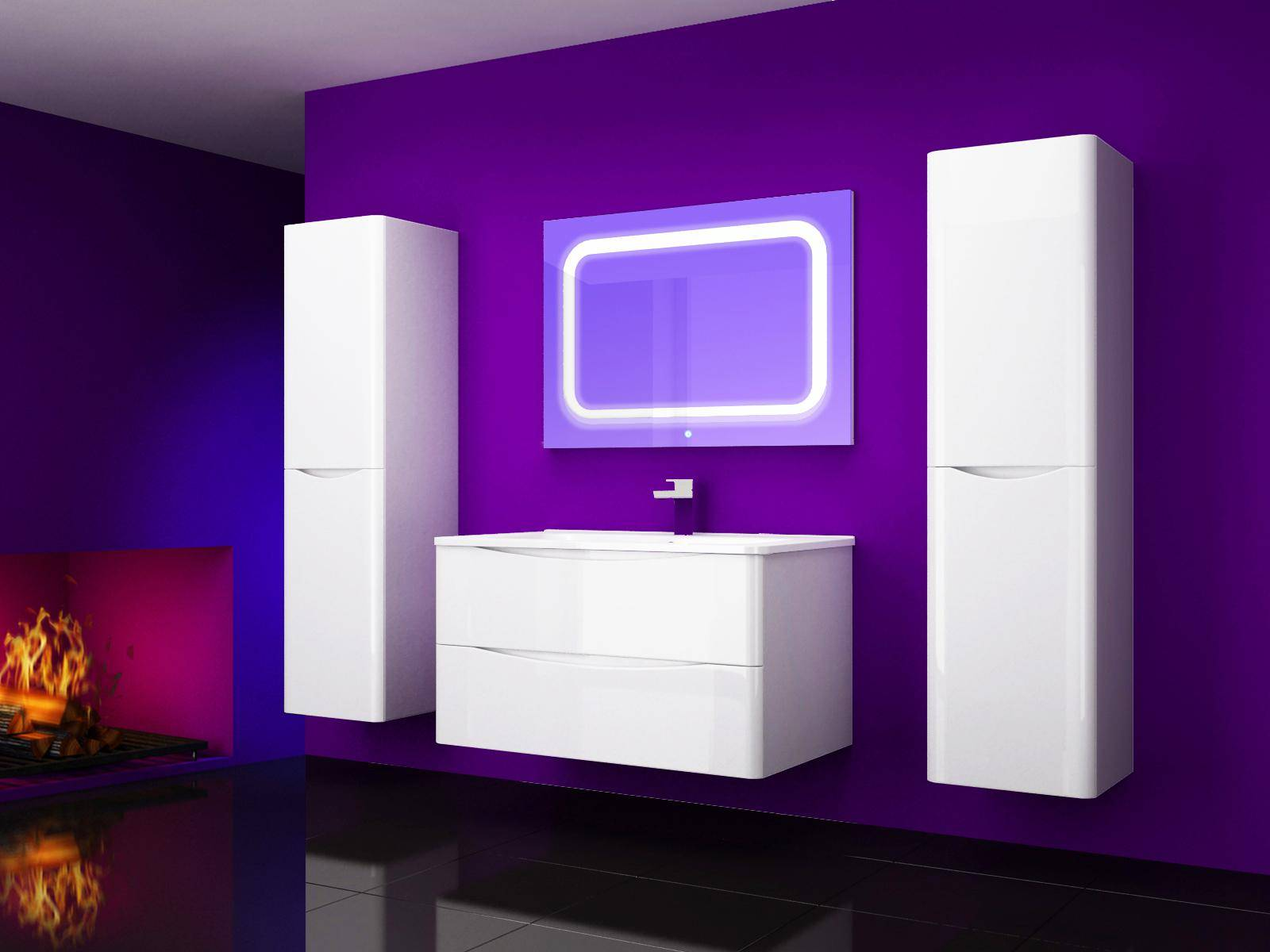 Modern High-End Atmosphere Hot Gloss Lacquer Modern Style Bathroom Vanity -P9067