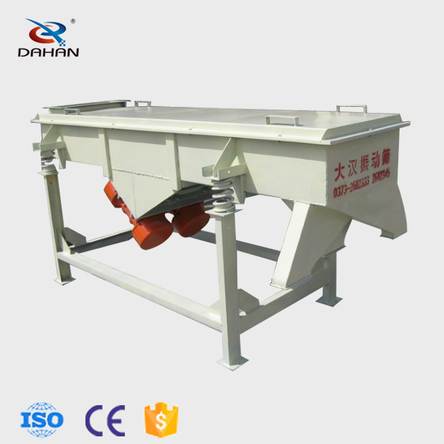 Food linear vibrating screen for grade