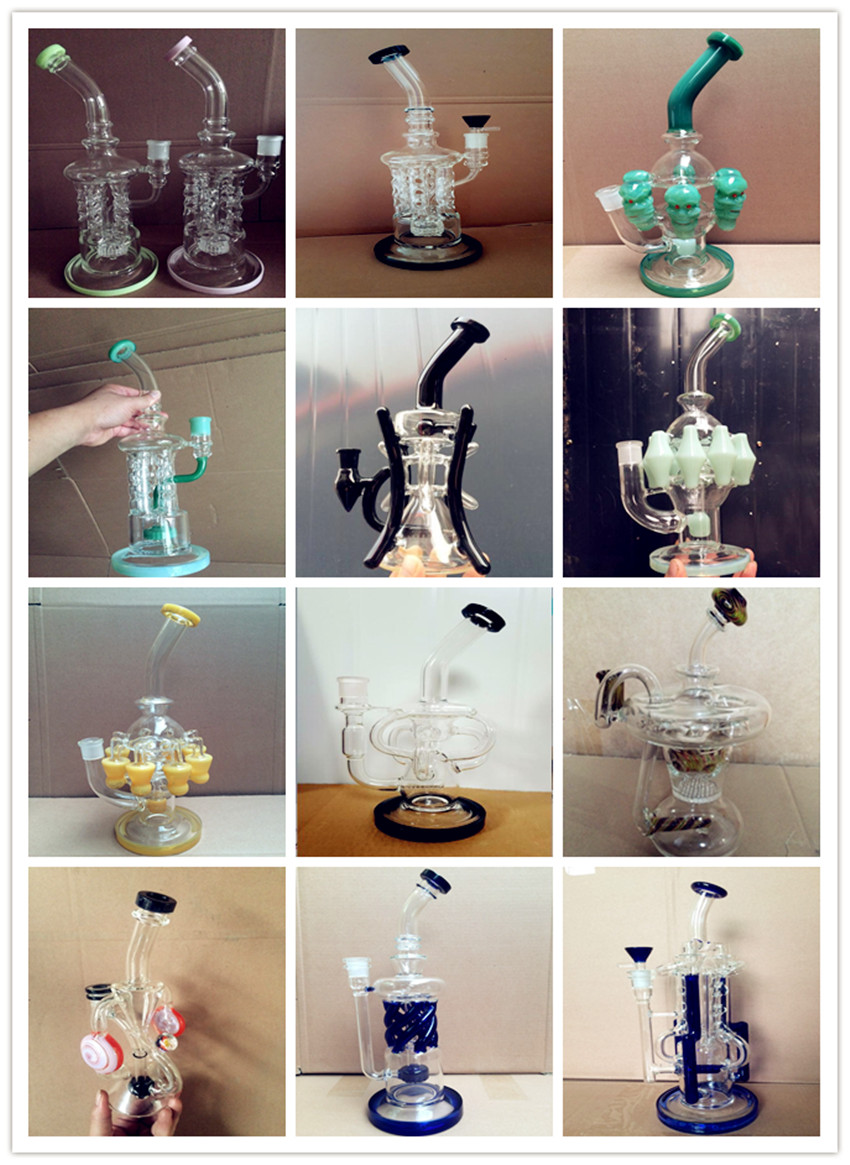 50X7 Popular Copper Plating Beaker Glass Smoking Water Pipe