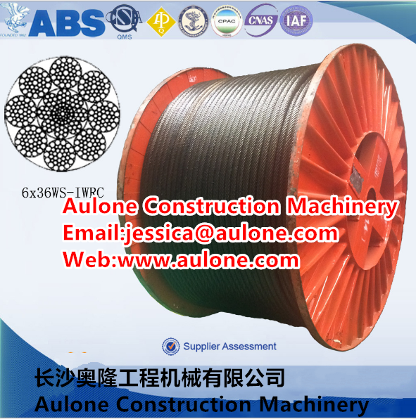 2160mpa,High breaking force crane wire rope,luff rope,non rotating wire rope