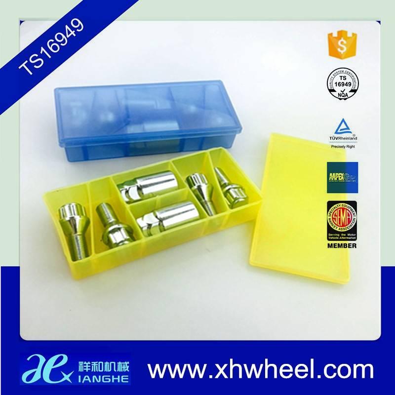 Hot Sale  Steel Wheel Lug bolts Lock Set With 2 Keys