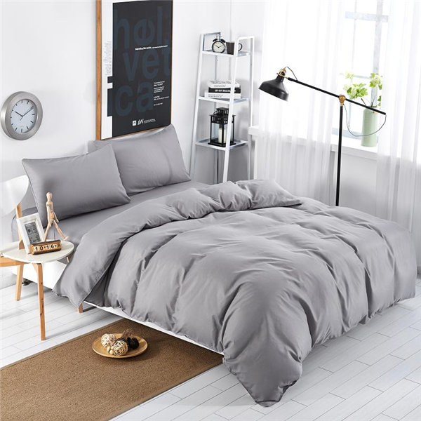 microfiber twin modern bed sheet sets/bedding sets silver