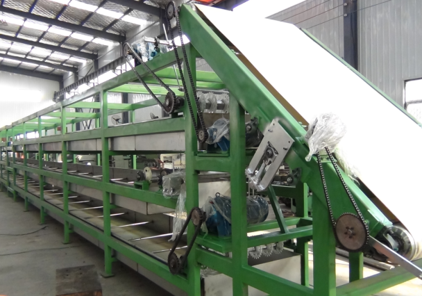 Tire tread extruder production line