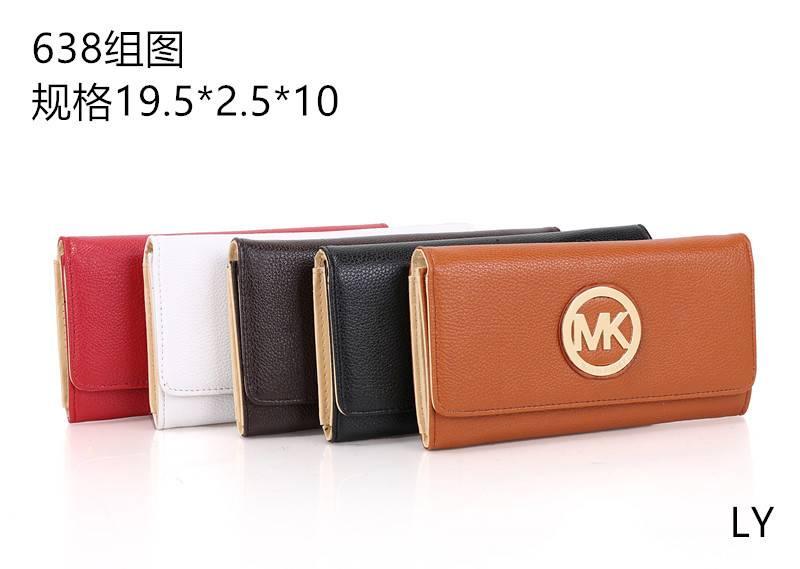 Wholesale Leather Effect Fold Mk Wallet Purse PU Leather Clutch Wallet Woman