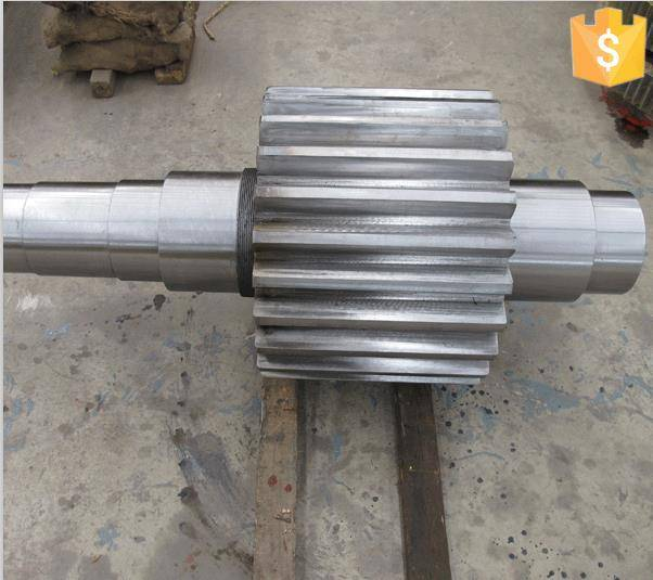 Forged Gear Shaft used in Cement lines