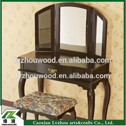 Bedroom furniture make up dressing table/ wooden mirrored furniture dresser