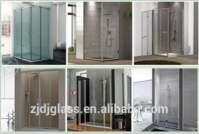 New design shower glass screen and door,tempered glass with 3C/ISO/ CE CSI SGCC