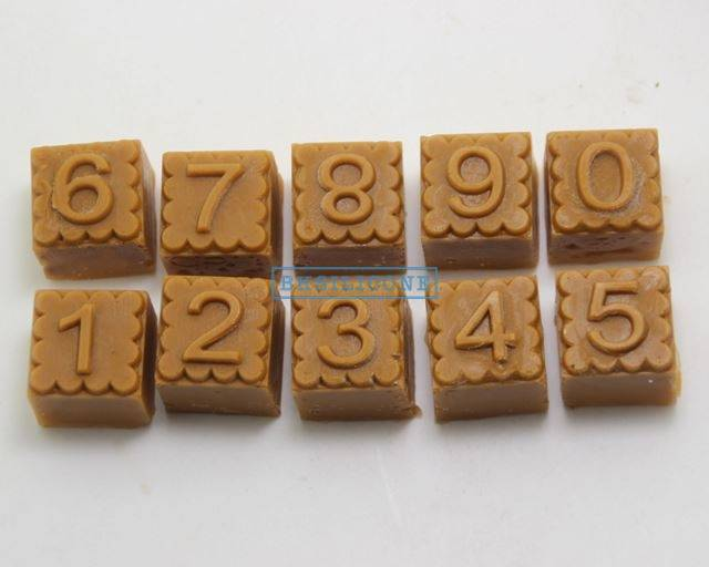 Hot Sale 0-9 Numerals Silicone Mold Chocolate  Ice DIY Soap Mould AB022