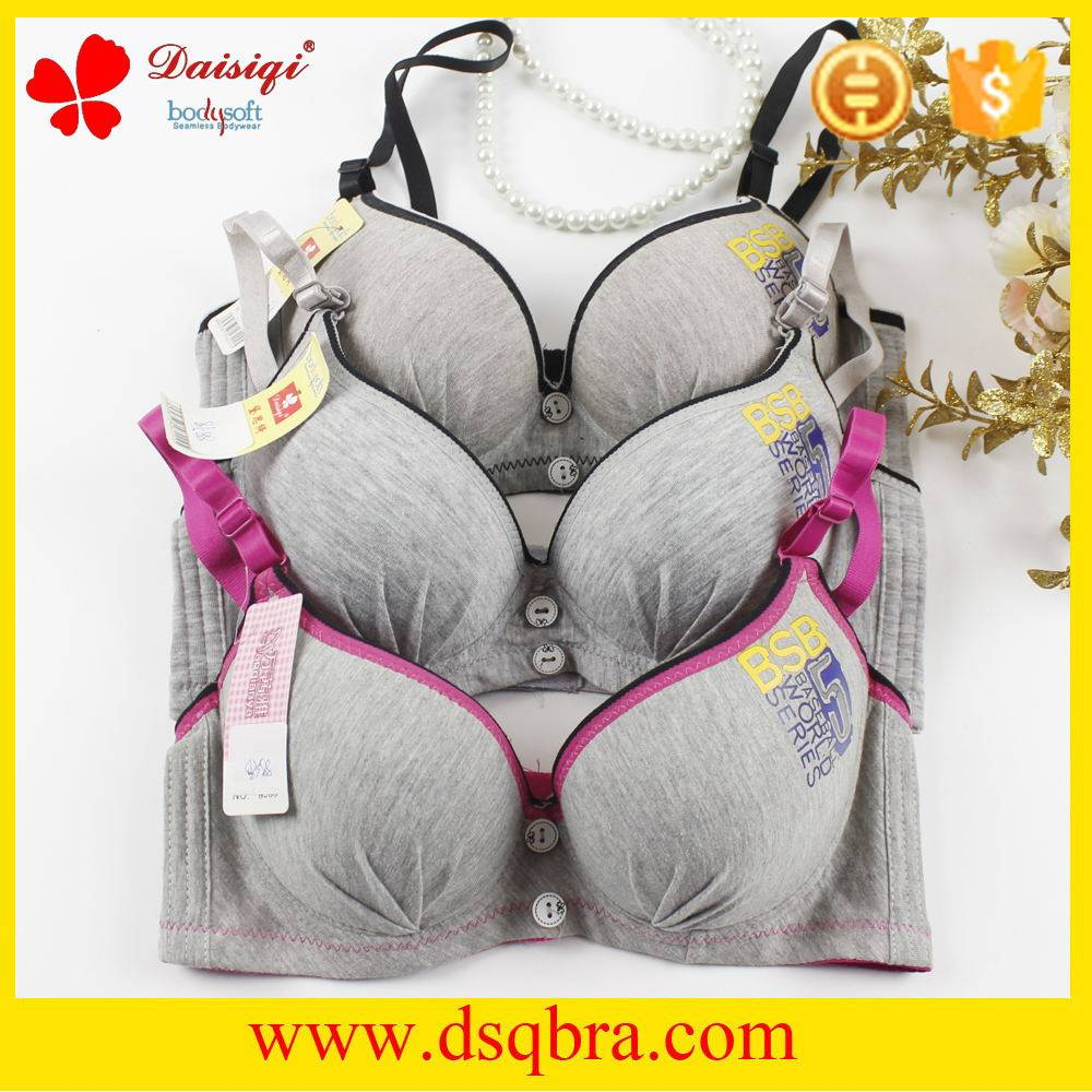 OEM and ODM service cotton material thick padded bra ladies underwired bra