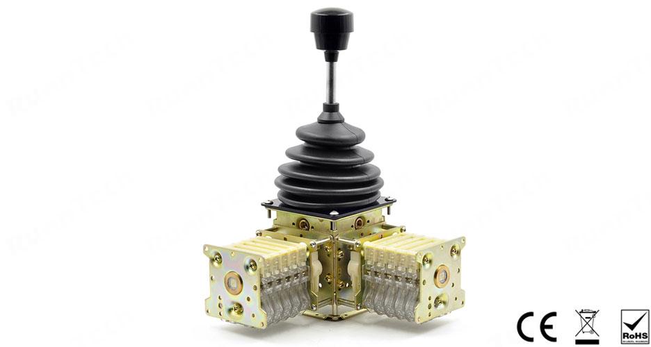 RunnTech 2 Axis, 5 Steps Hoist Joystick Controller for Cabin Crane Cross and Long Travel