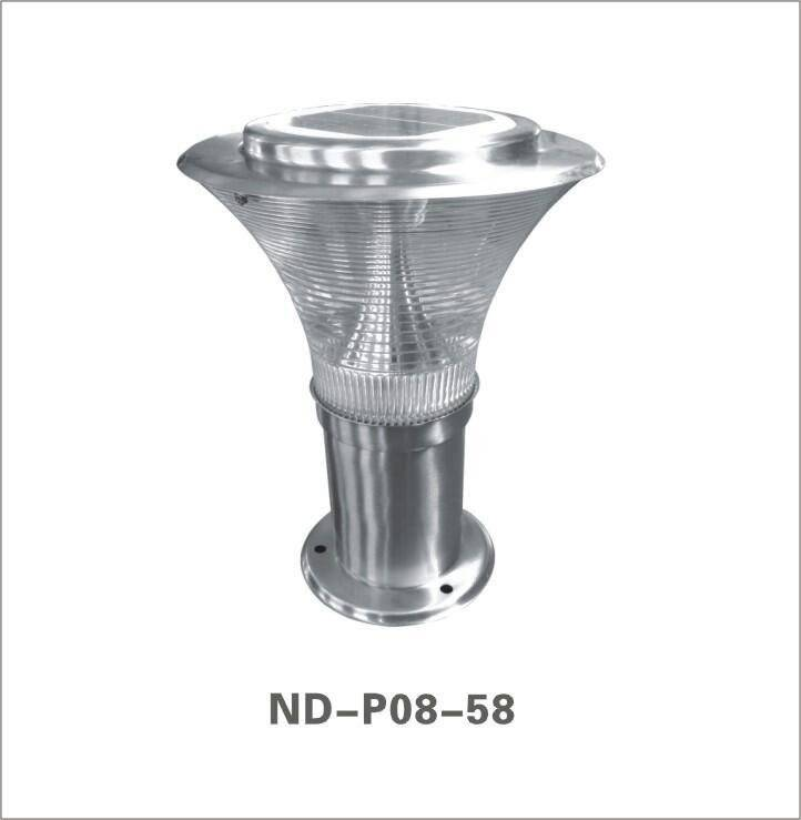 high quality solar LED pillar light
