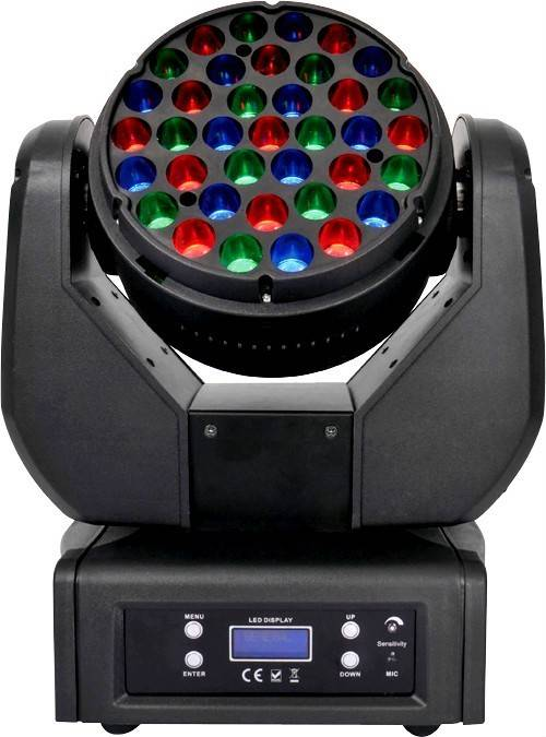 Hot-selling 37*3W RGB LED Moving Head Wash Light wtth 14CH