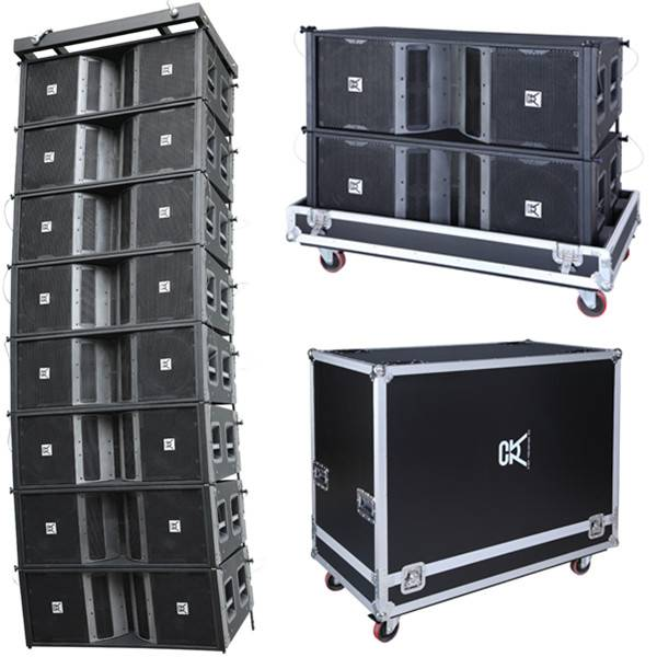 CVR Powered dual 12 inch outdoor  line array box