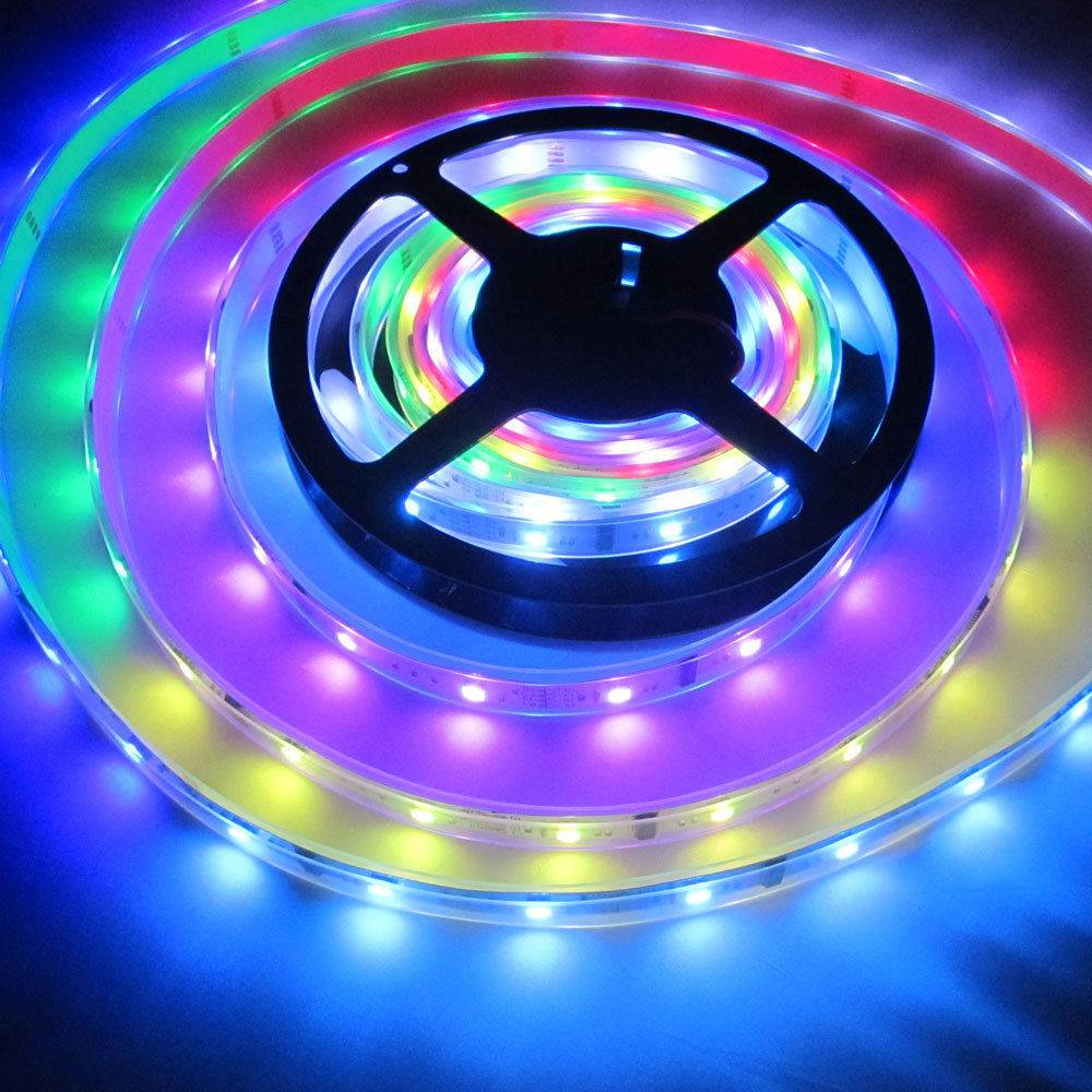 5M 5050 SMD RGB Magic Dream color 94 change 6803 IC Waterproof LED Strip light