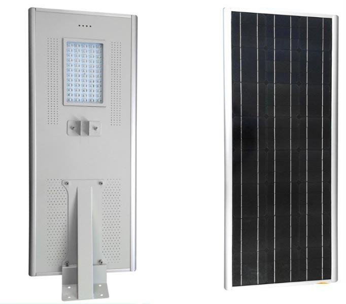 Highway Solar Led Street Light 50w With Bridgelux Chip , Mono Crystalline Solar Panel