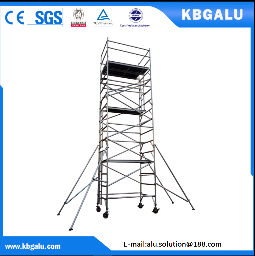 double width aluminum scaffold tower with 7m standing height