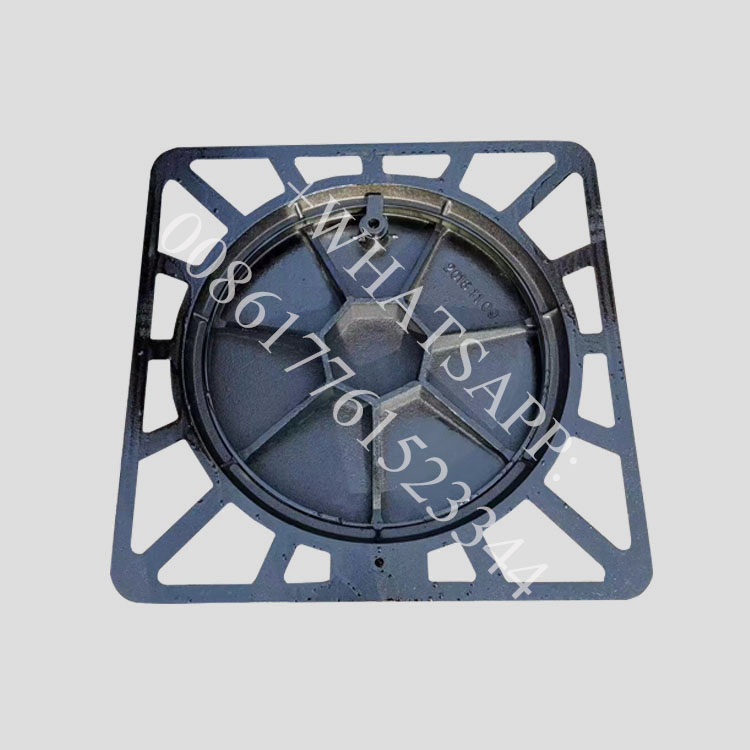Chinese supplier Round manhole cover with lock hinge and gasket