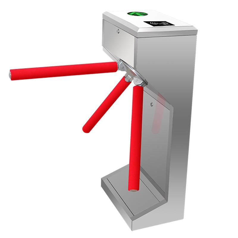 Biometrics time attendance barcode scanner Mechanical Tripod turnstile